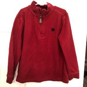 Chaps half zip pullover